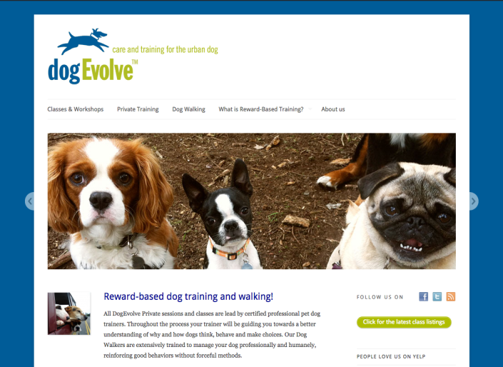 dogEvolve website
