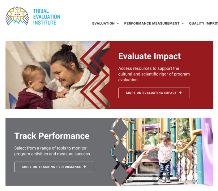 Tribal Evaluations Institutie homepage