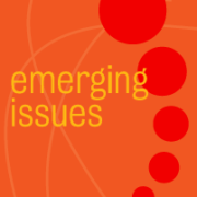 "icon of ""emerging issues"""