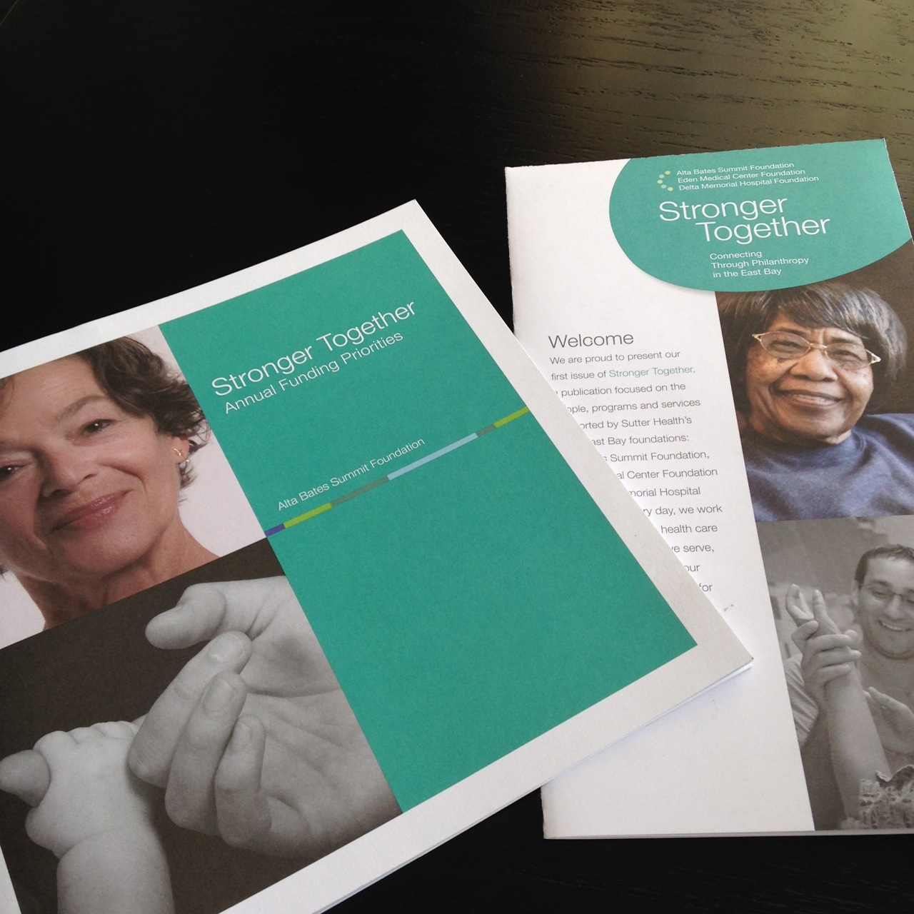 Cover of ABSF Stronger Together booklet and newsletter
