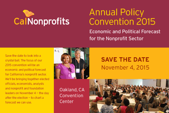 CalNonprofits convention postcard