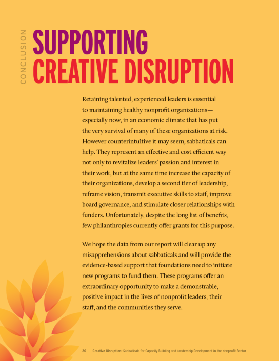 Creative Disruption page