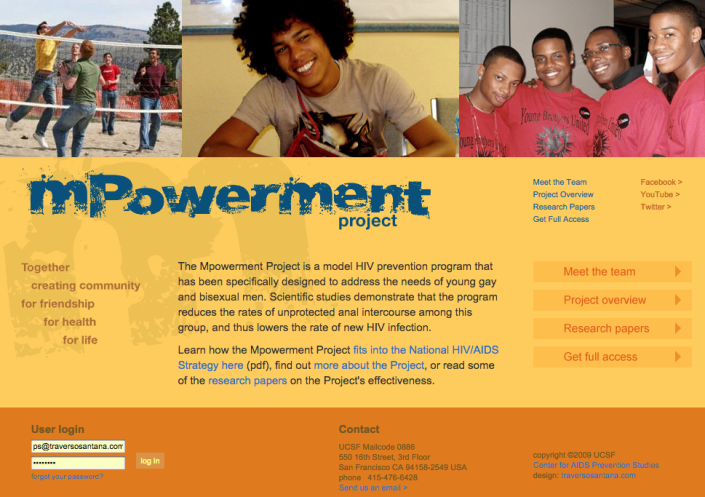 Mpowerment Project homepage