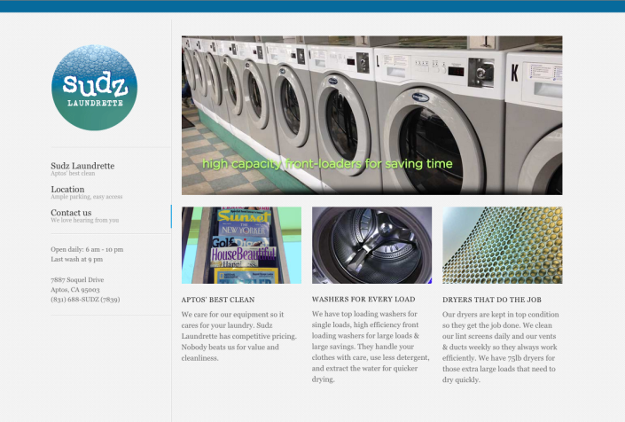 Sudz Laundrette homepage