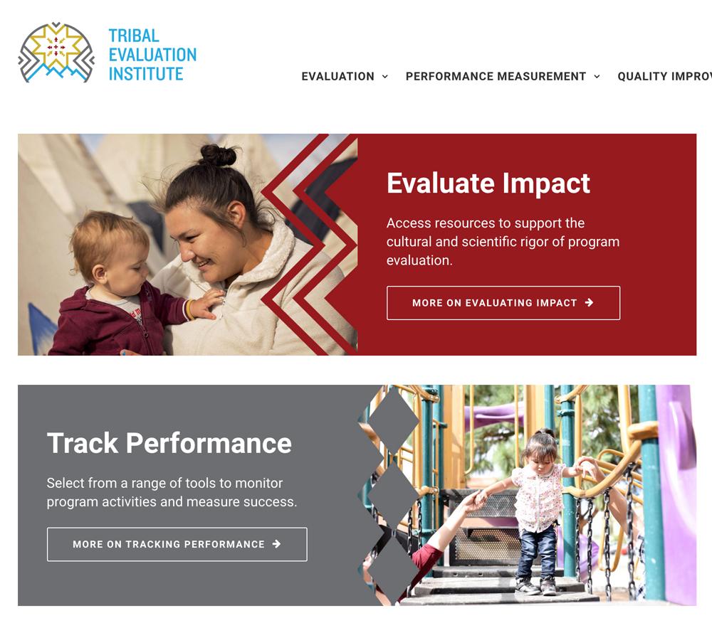 Tribal Evaluations Institutie homepage
