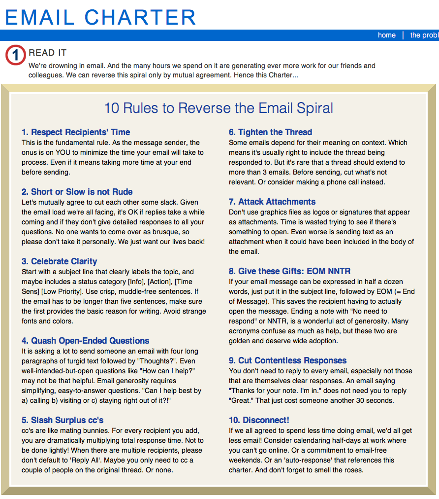 10 Rules to Reverse the Email Spiral - traversosantana com