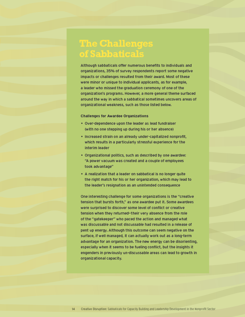 Creative Disruption back page