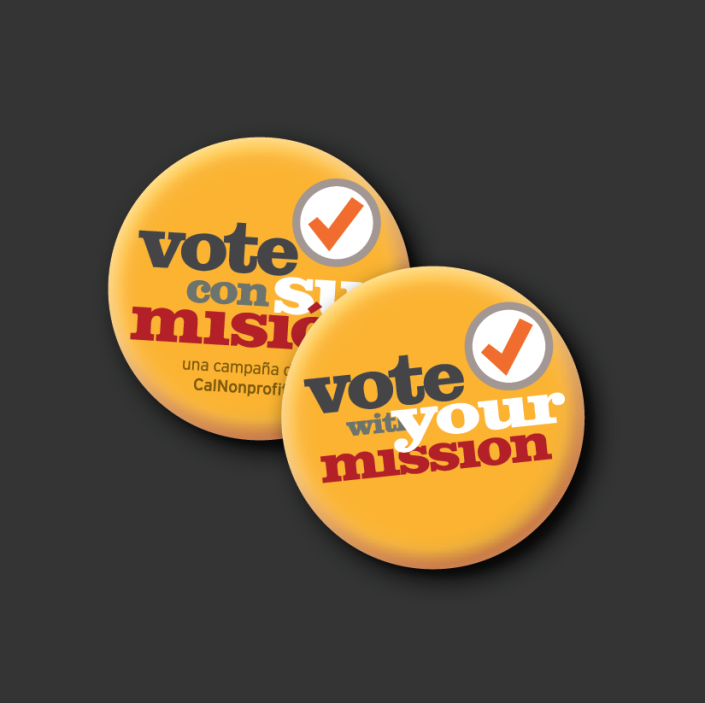 CalNonprofits campaign buttons