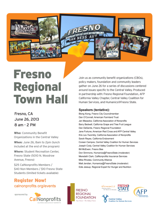 CalNonprofits event flyer